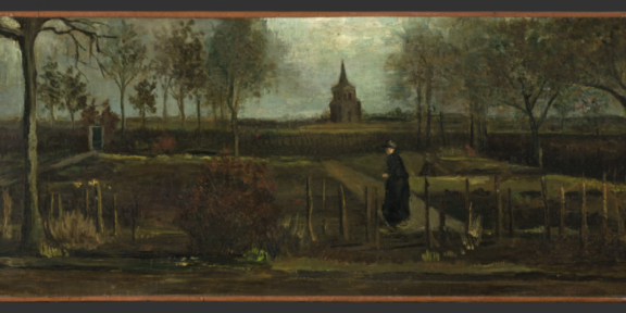 Vincent van Gogh, The Parsonage Garden at Nuenen in Spring (1884). ©Groninger Museum.