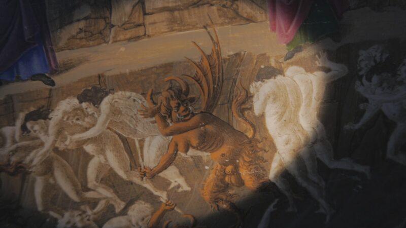 Sandro Botticelli, illustrazione per la Divina Commedia. Gemäldegalerie, Berlino
