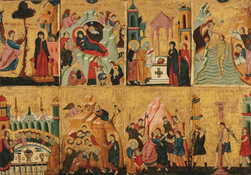Roman School, Eight Scenes from the Life of Christ, c. 1275-1300. CHRISTIE'S