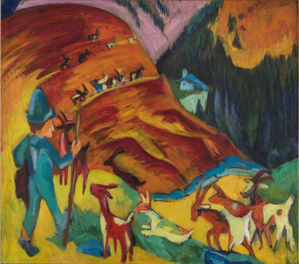 Ernst Ludwig Kirchner Heimkehrende Ziegenherde, 1920 (Gregge di capre che torna a casa) Olio su tela 80 x 90.5 cm Fondazione Gabriele e Anna Braglia, Lugano Ph. Roberto Pellegrini