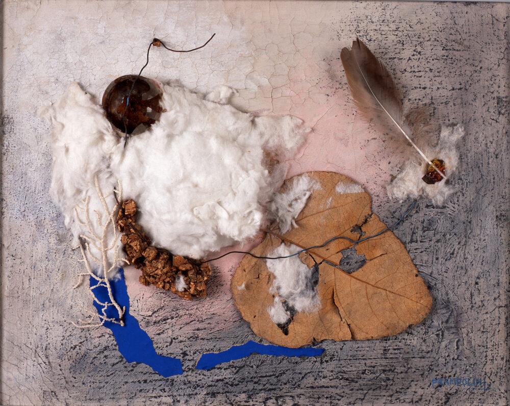 Enrico Prampolini, Automatismo polimaterico, 1941, Collage e olio su carta, 32,4 x 40,6 cm