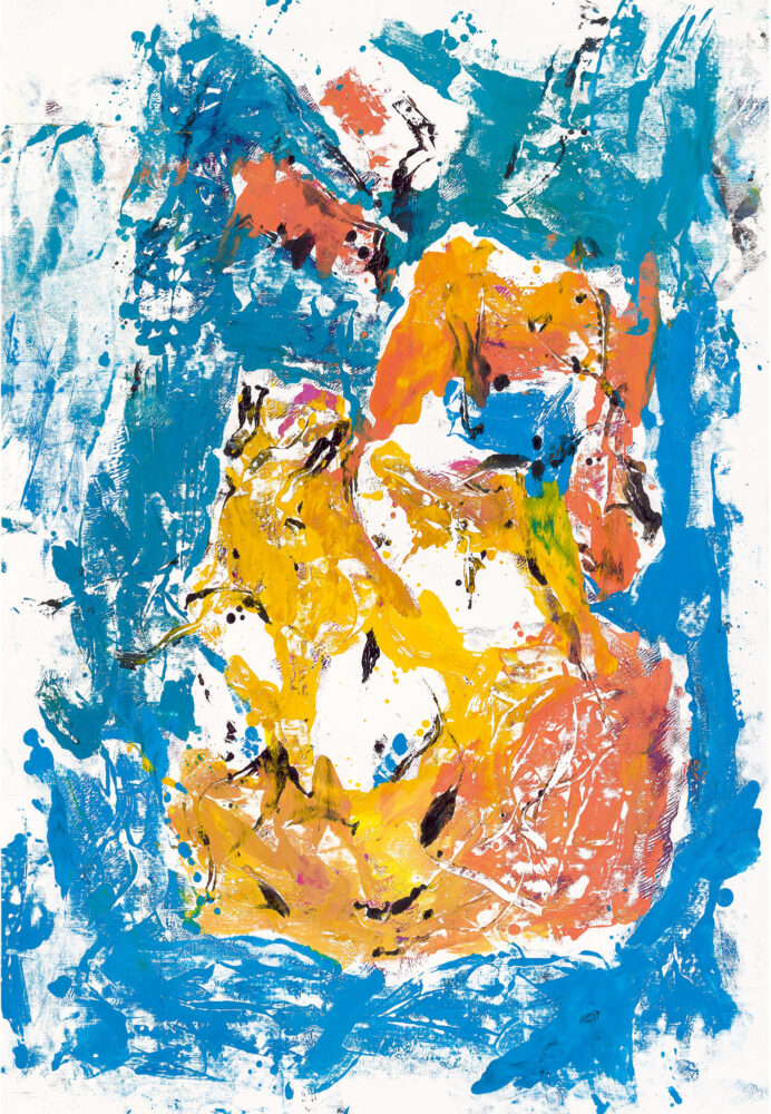Georg Baselitz, Jorn, 2020. Olio su tela, 241 × 165 cm. © Georg Baselitz 2021. Foto: Jochen Littkemann, Berlino. Courtesy Gagosian