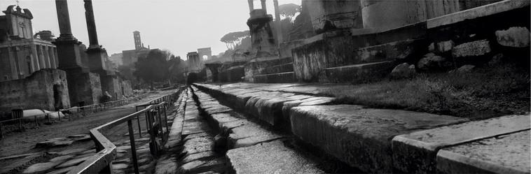 il Foro Romano visto da sud-est, fotografato da Koudelka nel 2000.