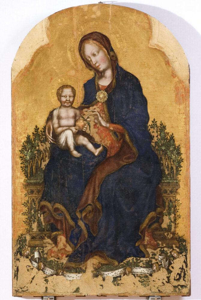 Gentile da Fabriano, Madonna col Bambino e angeli, 1405 circa