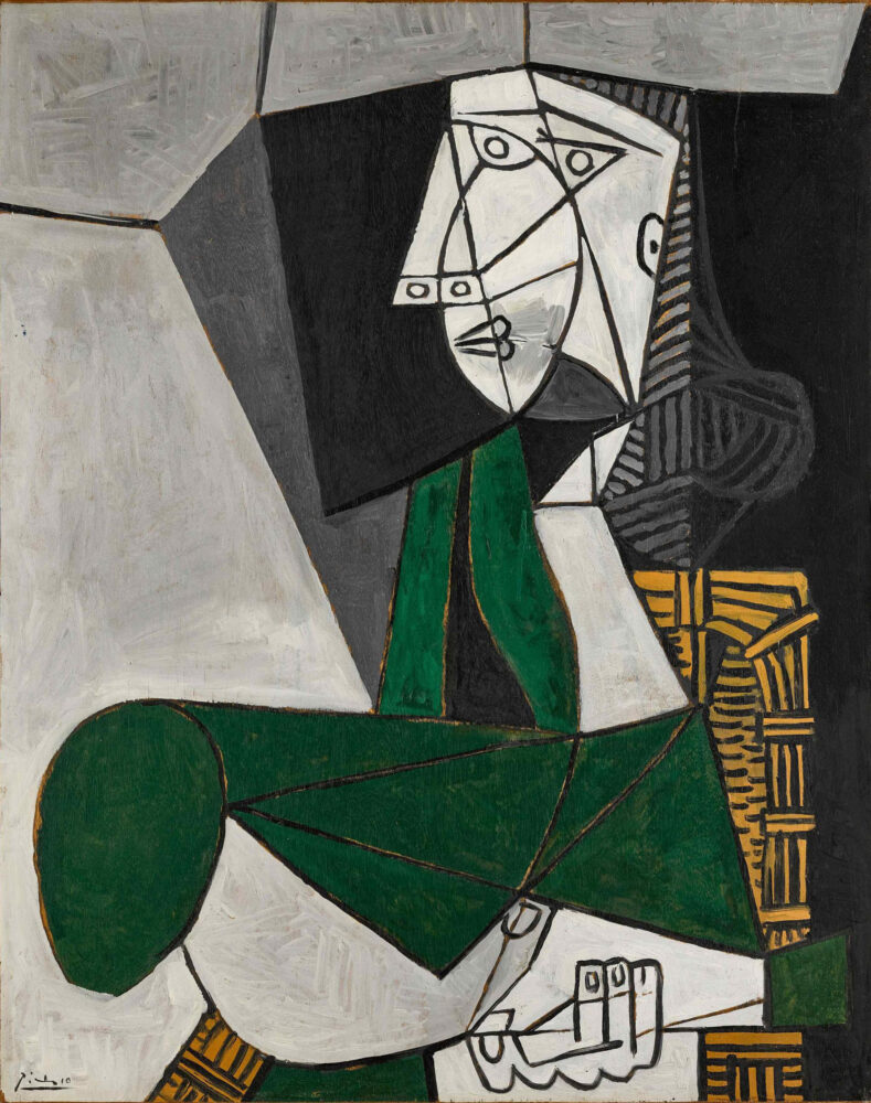 Pablo Picasso, Femme assise en costume vert. SOTHEBY'S