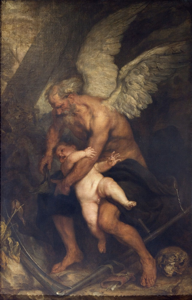 Antoon Van Dyck (Anversa, 1599 – Londra, 1641), Il tempo taglia le ali all'Amore, 1627 circa, olio su tela, 187 x 120,5 cm, Parigi, Institut de France. Musée Jacquemart-André, © Christophe Recoura