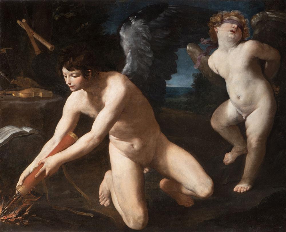 Guido Reni (Bologna, 1575 - 1642), Amor sacro e Amor profano, 1622-1623, olio su tela, 131 x 163 cm, Genova, Galleria Nazionale di Palazzo Spinola