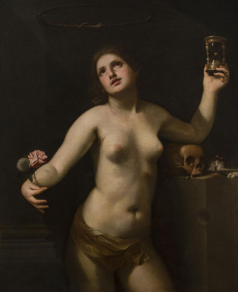 Guido Cagnacci (Santarcangelo di Romagna, 1601 – Vienna, 1663), Allegoria del Tempo (o della vita umana), 1650 circa, olio su tela, 118,2x95,3 cm, Lampronti Gallery