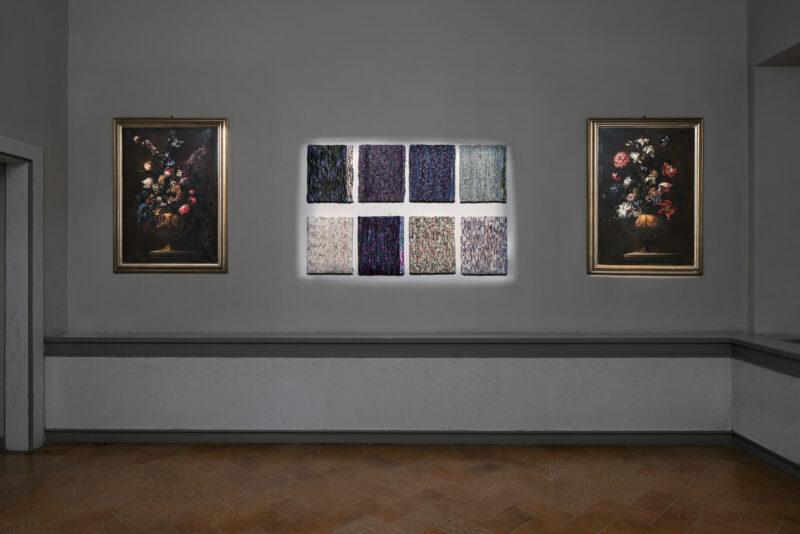 Joel Andrianomearisoa Sentimental Garden, serie 1, 2019 Tessile, 50 × 40 cm Courtesy Primo Marella Gallery e l'artista