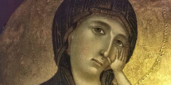 Cimabue, Madonna col Bambino (particolare)