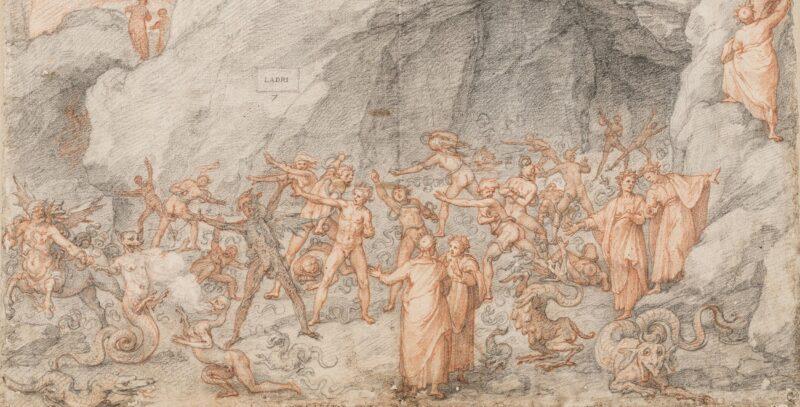 Dante Historiato da Federico Zuccaro, Inferno, Uffizi