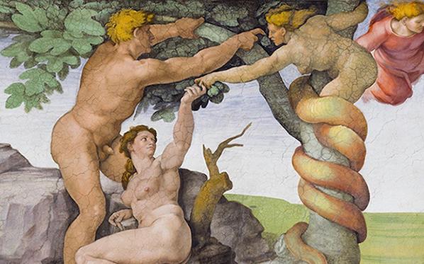 Si prega di non toccare: una rilettura sovversiva del peccato originale di Michelangelo