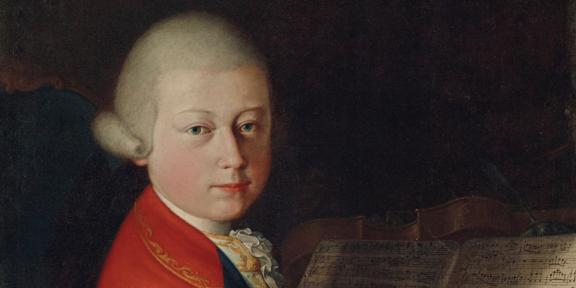Giambettino Cignaroli, Ritratto del giovane W. A. Mozart all'età di 13 anni (particolare)