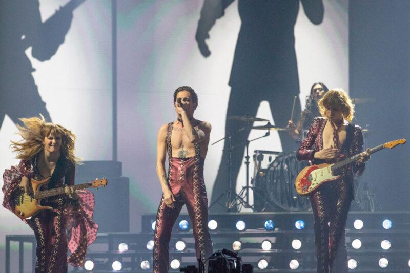 I Maneskin sul palco dell'European Song Contest