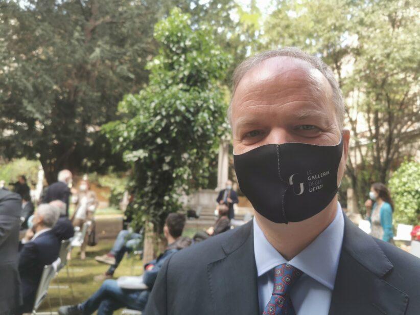 Il direttore degli Uffizi Eike Smith durante la nostra intervista a Ravenna