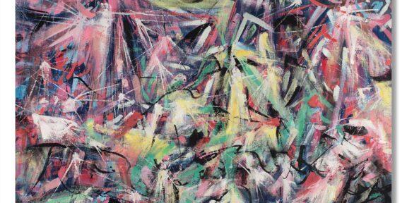 """Lotto 58: Ettore Sottsass """"Senza titolo"""" 1954 olio su tela cm 80x100. Venduto € 21.250 - WORLD RECORD. Foto Il Ponte Casa d'Aste"""