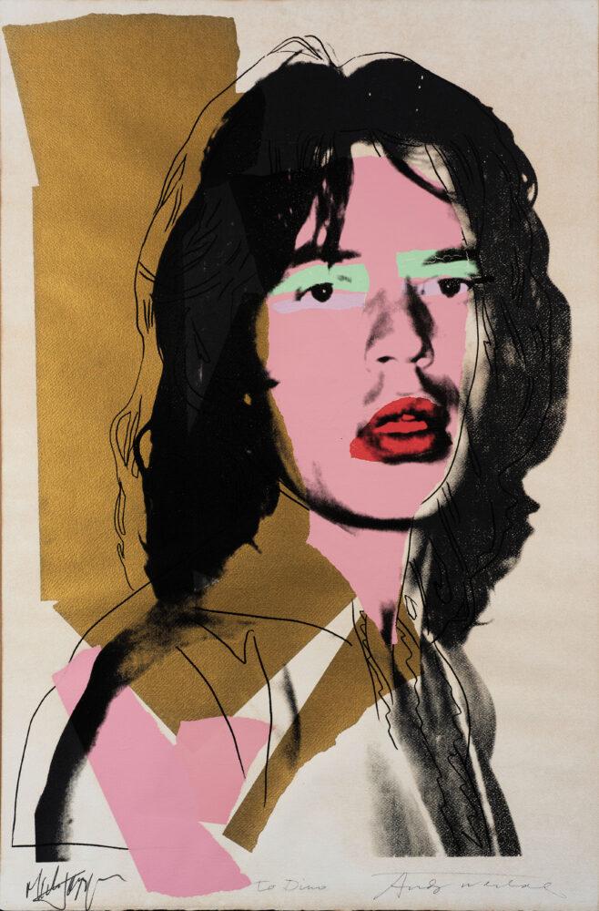 Andy Warhol, Mick Jagger. Stima € 45.000-55.000
