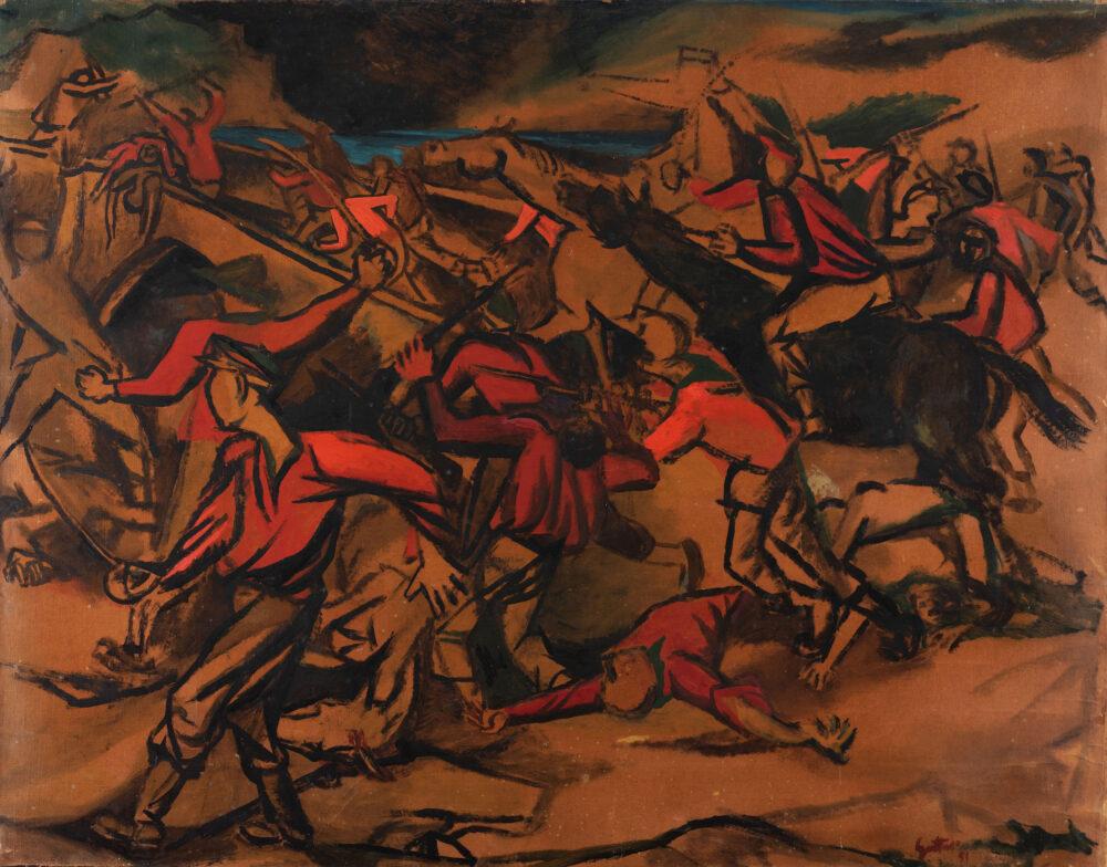 Renato Guttuso, Studio per la Battaglia di Ponte dell'Armiraglio. Stima € 60.000 - 80.000