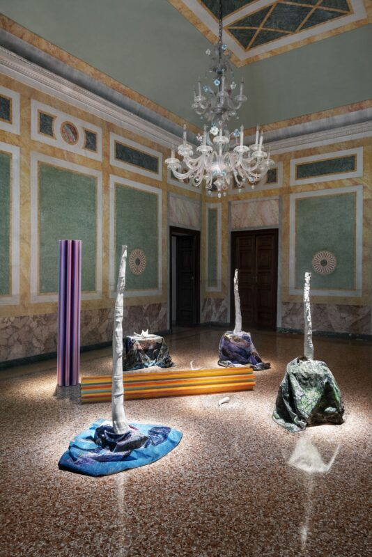 Matteo Nasini Il giardino perduto, 2018 Neolithic Sunshine, 2019 – 2021 Courtesy Galleria Clima, Milano
