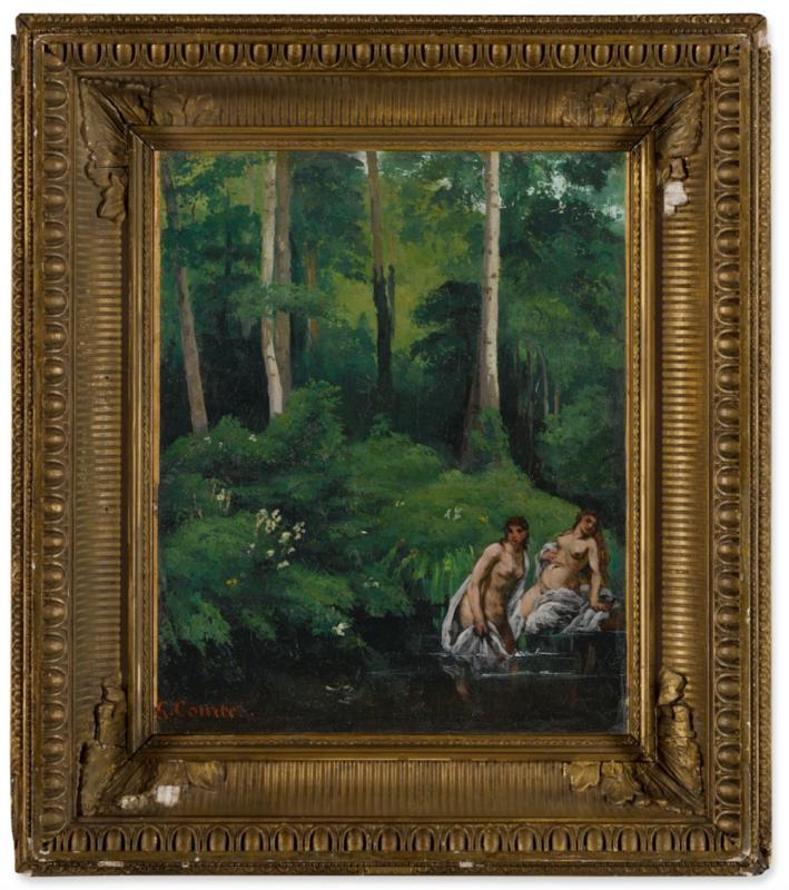 Gustave Courbet Baigneuses dans la forêt, 1962. SOTHEBY'S