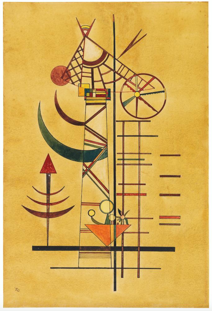 Wassily Kandinsky, Gebogene Spitzen. 1927. Sotheby's