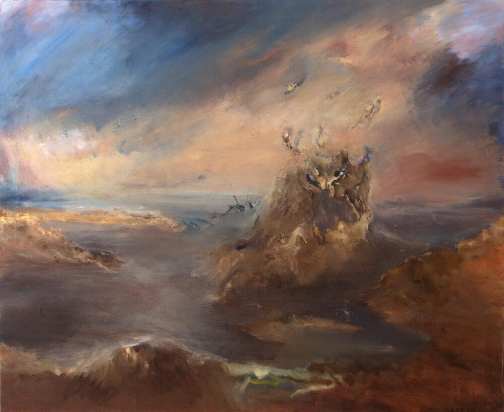 Oscar Isaias Contreras Rojas, Senza Titolo, 2020, olio su tela, 140 x 170 cm