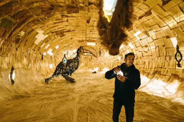 Miniartextil 30 edizione Stefano Ogliari Badessi, Sei esattamente dove dovresti essere maggio – luglio 2021 Installation view at Padiglione Grossisti del Mercato Coperto, Como Credits: Andrea Zanenga