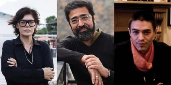 Ute Meta Bauer, Amar Kanwar e David Teh (foto Istanbul Biennial)