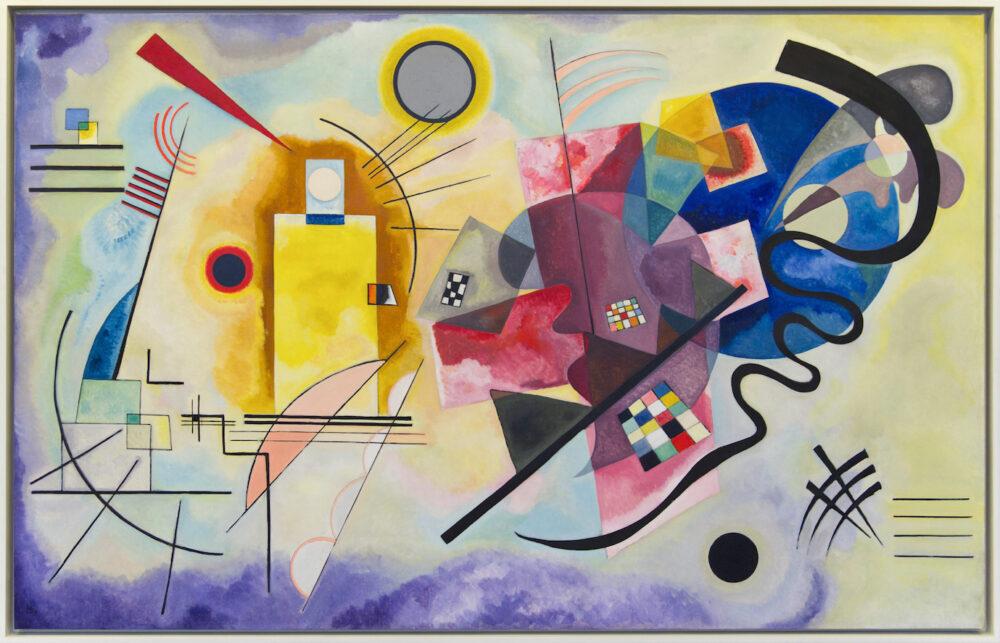 Vassily Kandinskij, Giallo, rosso, blu, olio su tela, 1925