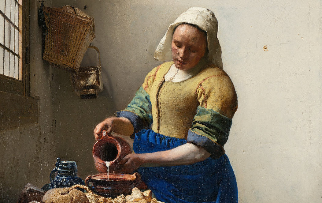Si prega di non toccare: una rilettura sovversiva della Lattaia di Vermeer