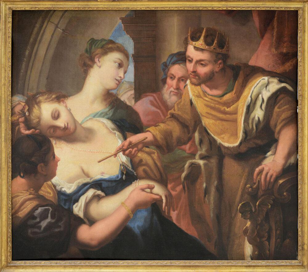 ANTONIO MOLINARI [Venezia 21/05/1655 - 03/02/1704] Lo svenimento di Ester davanti ad Assuero Olio su tela, 107x122 cm