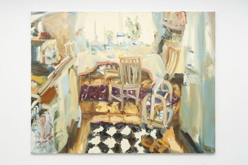 Sophie Westerlind, La cucina di Imelda, 85x110 cm, olio su lino, 2018