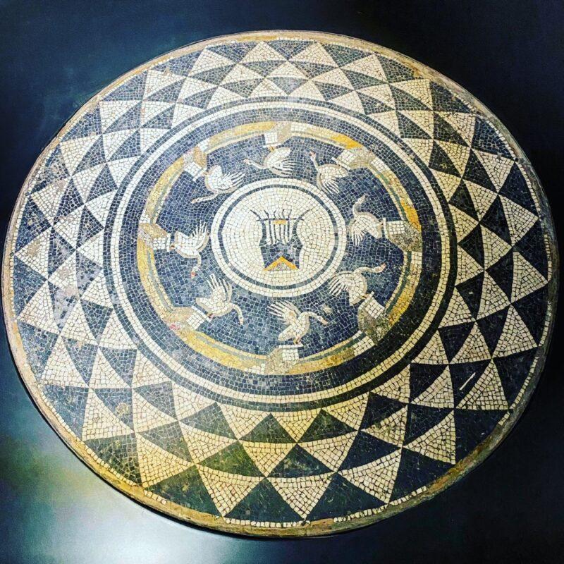 Mosaico pavimentale con cigni di età augustea