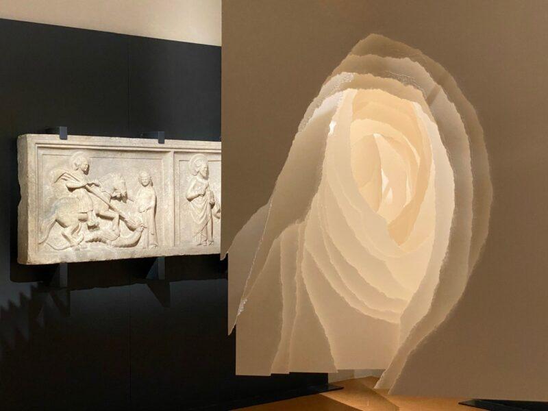 Angela Glajcar, 'Terforation' 2009-119, 2009 Carta 300 gr, metallo 140 x 100 x 300 cm Courtesy Marco Emilio Bertona