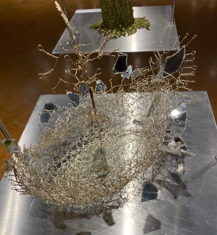 4.Andreina Battel Stultifera navis Filo metallico, specchio