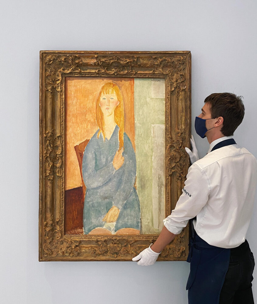 Amedeo Modigliani's Jeune Fille Assise, Les Cheveux Dénoués (estimate $15/20 million)