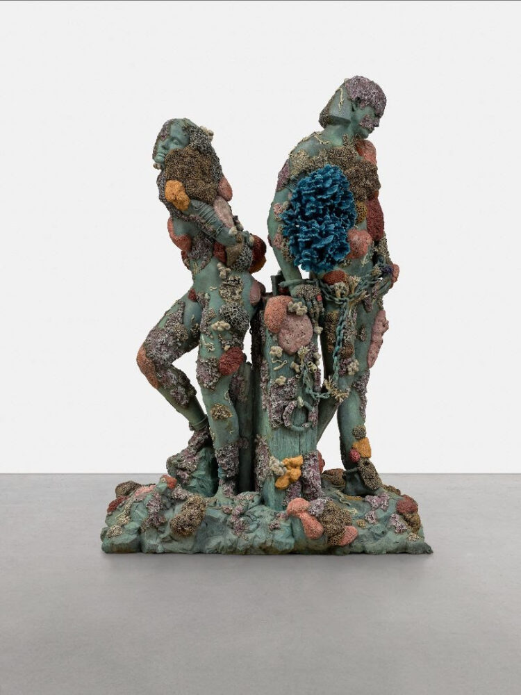 Damien Hirst, Children of a Dead King, 2010. Bronze, 77.8 x 54.4 x 35.1 inches (1977 x 1383 x 891 mm). Edition of 3 with 2 artist's proof. Private Collection. Photographed by Prudence Cuming Associates Ltd ©Damien Hirst and Science Ltd. All rights reserved, DACS 2021 / SIAE 2021