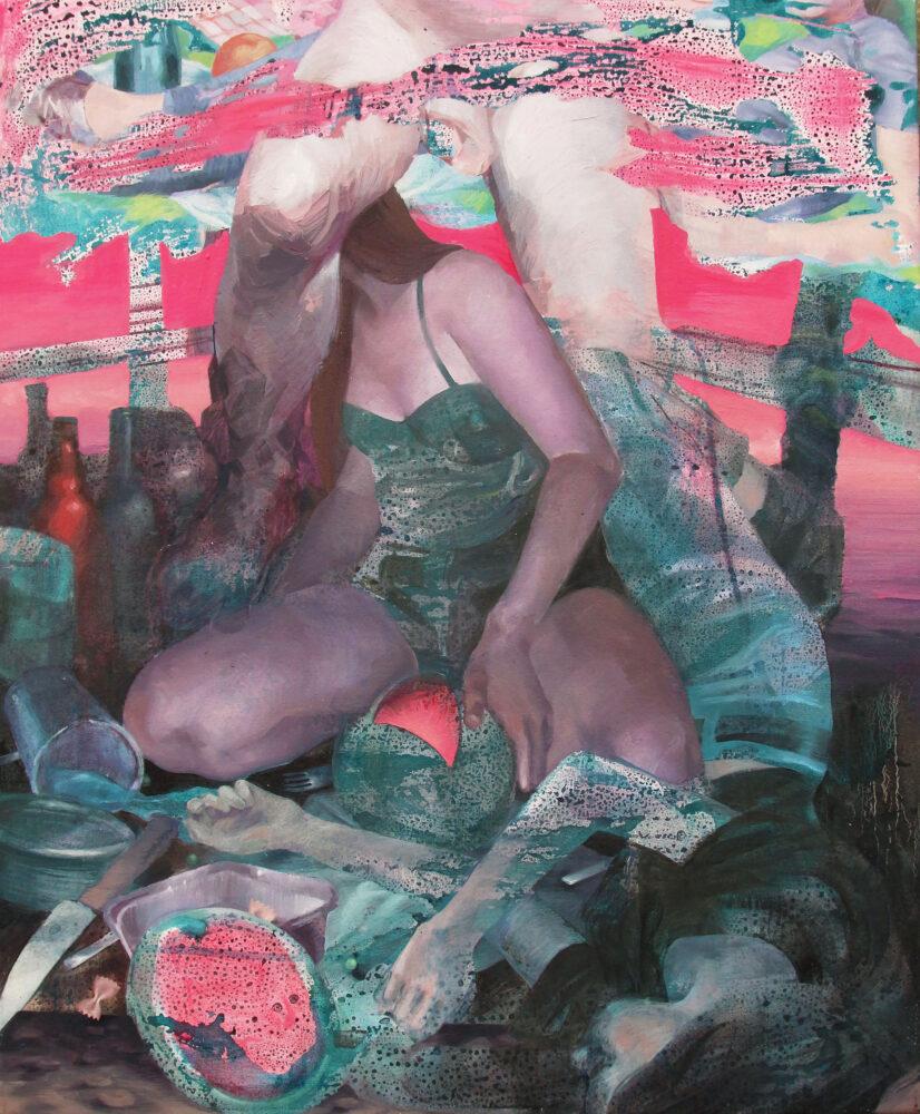 Barbara De Vivi_La notte dell'anguria_2020_olio su tela 85x70cm_Courtesy the artist