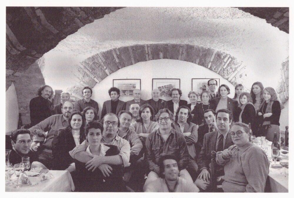1984, Cena ex allievi Toti Scialoja, ristorante Pommidoro, Roma, Toti, Jannis Kounellis, Michelle Coudray, Gallo, Dessì, Ceccobelli, Tirelli, Nunzio, Bianchi, Pizzi Cannella...