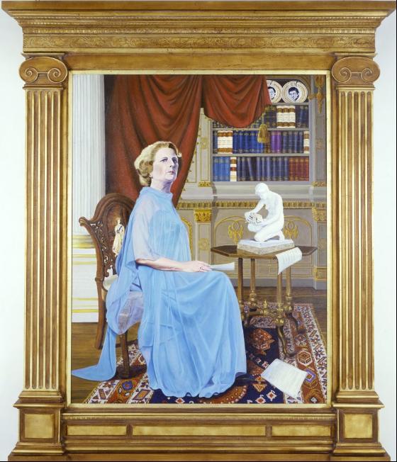 Hans Haacke, Ritratto di Margaret Tatcher come fosse la regina Elisabetta