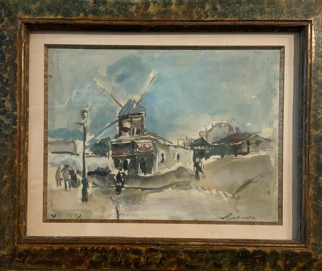 Jongkind, Montmatre-Le moulin de la Galette(1882)