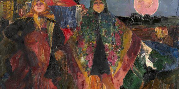 """Filipp Andreevic Maljavin """"La Fisarmonica"""" olio su tela (cm 60x81) Firmato in basso a sinistra Al retro: cartiglio e timbro Esposizioni: 1929, Galleria Bardi, Milano Valutazione € 25.000 - 30.000"""