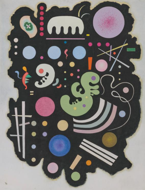 Wassily Kandinsky, Noir bigarré