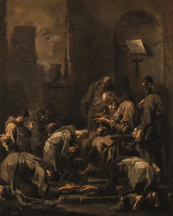 Contrizione di monaci davanti al confessore di Alessandro Magnasco (Genova, 1667 - 1749) (lotto 421, stima 50.000 – 80.000 euro)