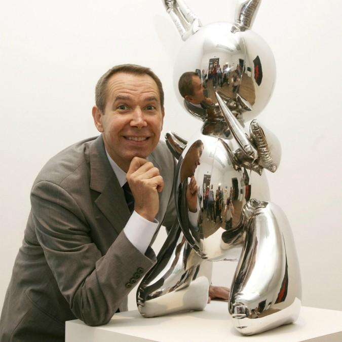 Jeff Koons con coniglietto