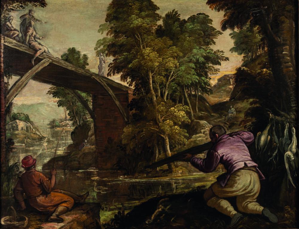Scena di caccia di Pauwels Franck (detto Paolo Fiammingo) (Anversa, 1540 circa - Venezia, 1596) (lotto 419, stima 8.000 – 12.000 euro)
