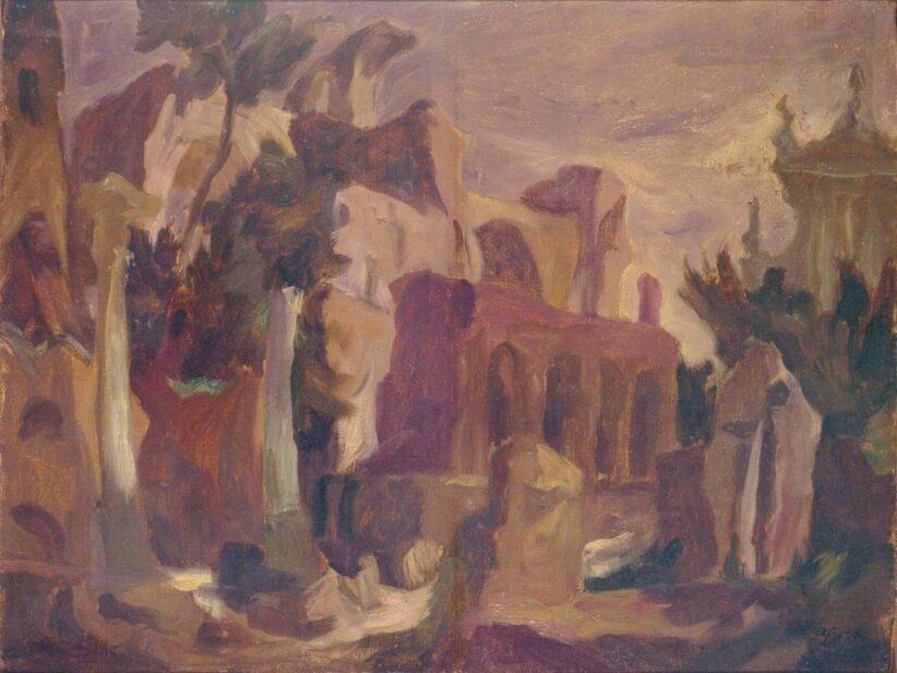 Afro Basaldella, La Basilica di Massenzio, 1939
