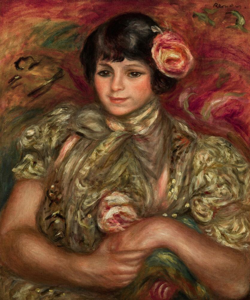 Pierre-Auguste Renoir, Femme à la rose, est. £1,000,000-1,500,000