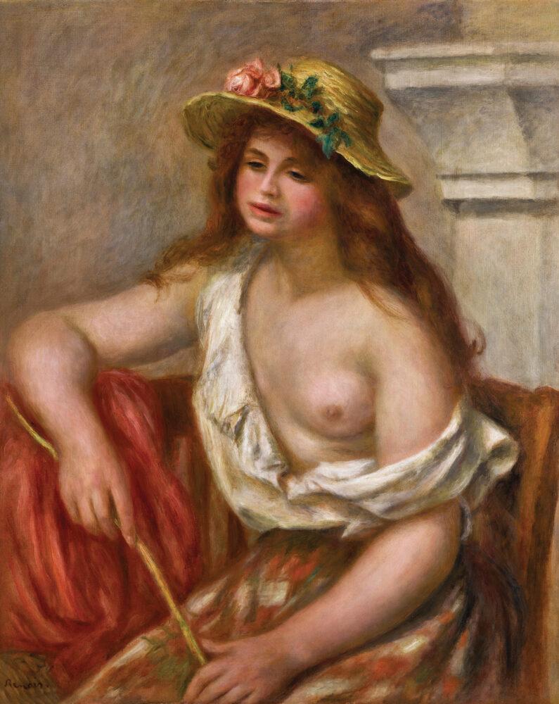 Pierre-Auguste Renoir, La bohémienne or Le bergère, est. £700,000-1,000,000