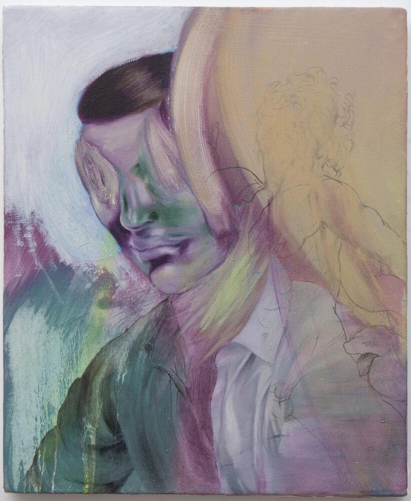 Rémi Deymier_Photon's Lullaby, 2020_Huile sur toile 38 x 46 cm_Courtesy the artist